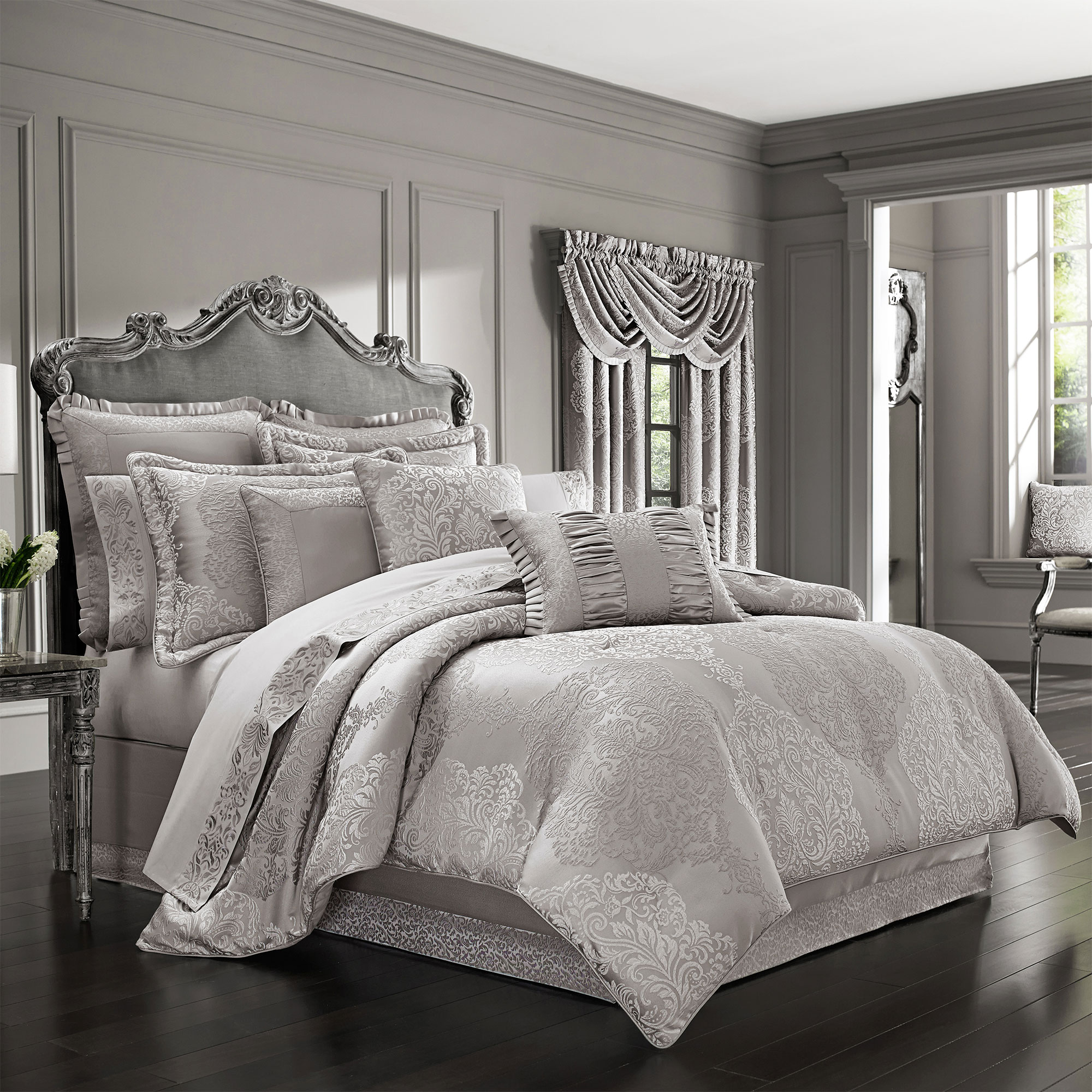 queen chic com silver piece ruth set home sets ip walmart comforter