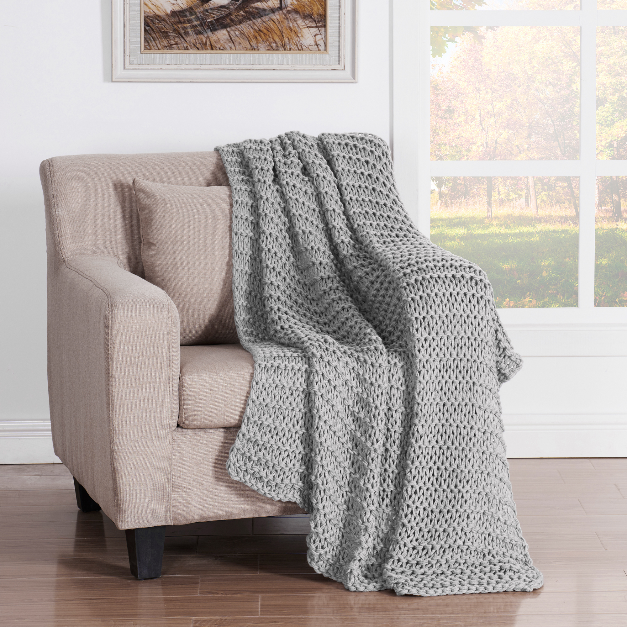 Luca Throw Blanket Grey