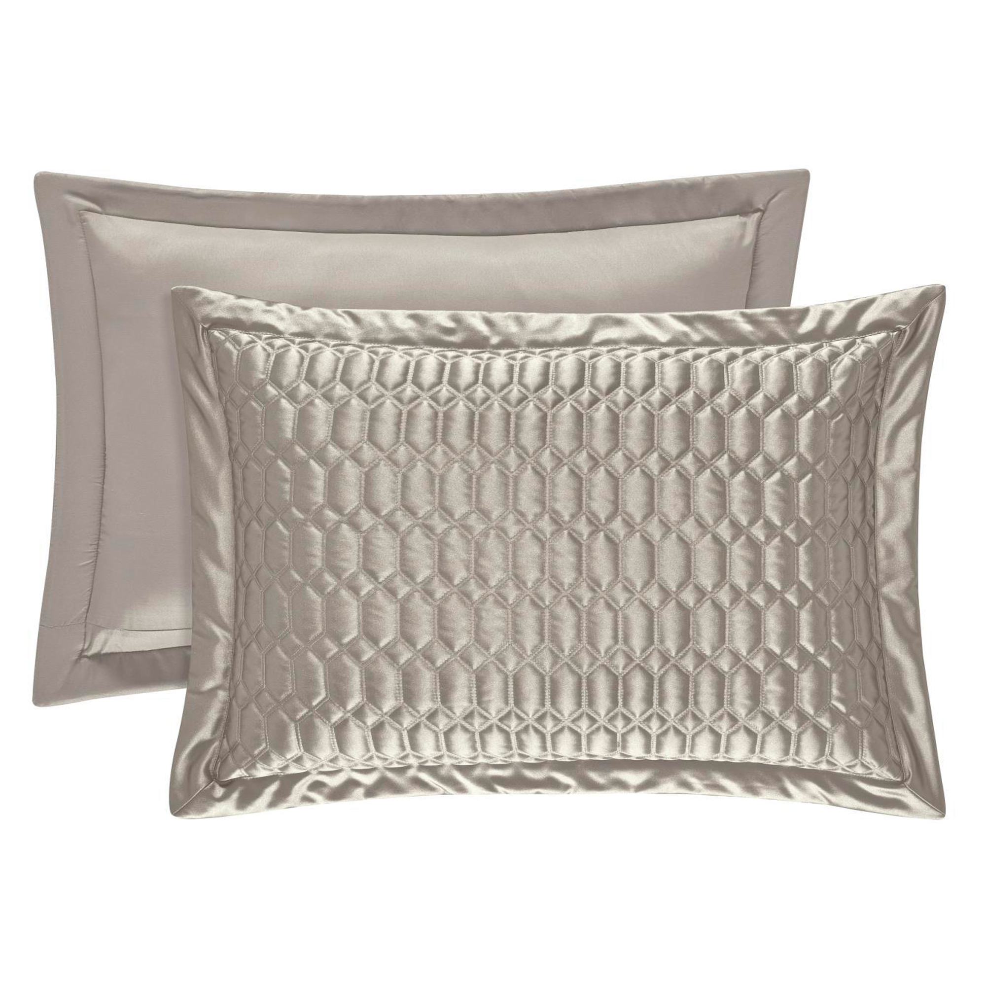 Satinique Silver King Quilted Sham
