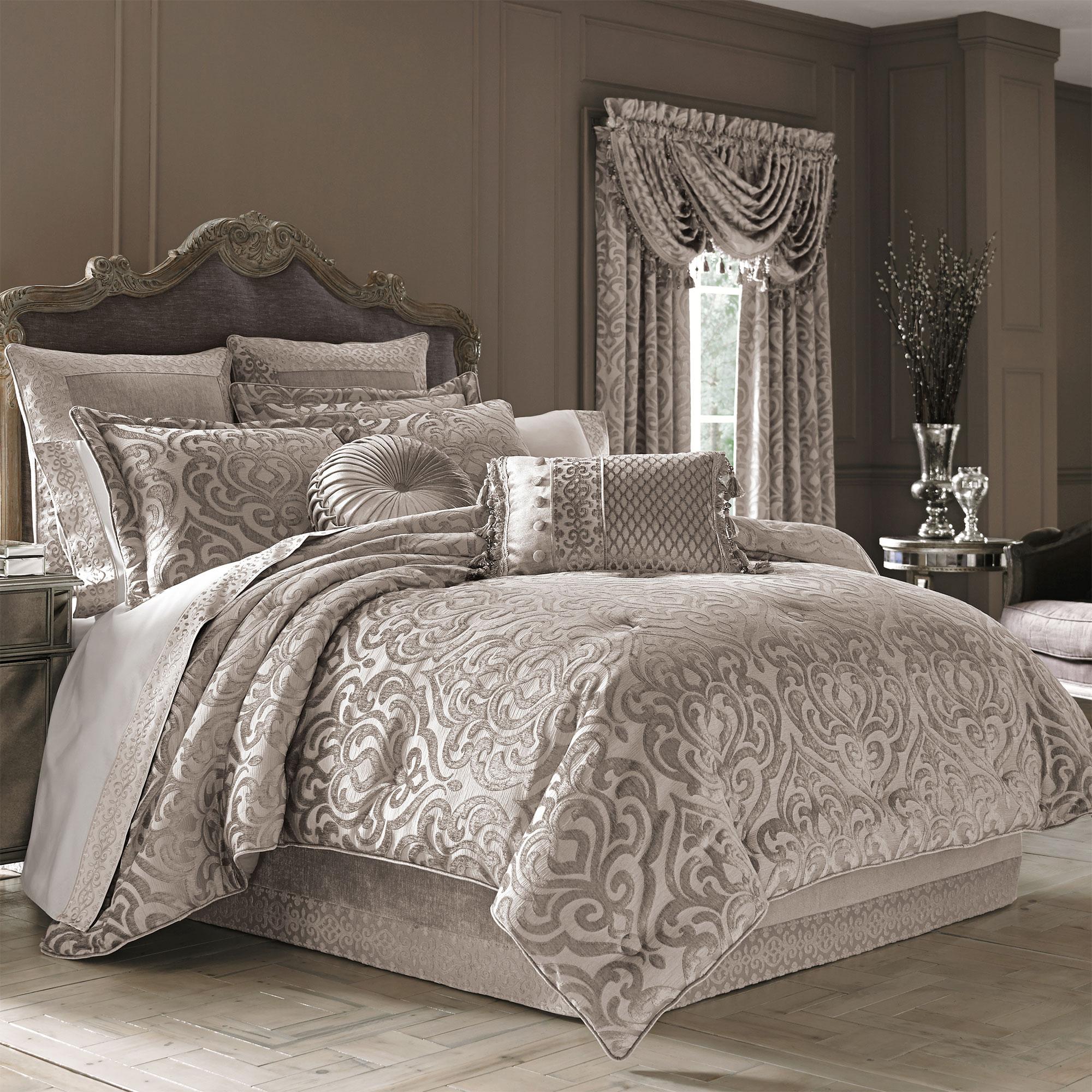 Comforter Sets.Sicily Pearl Full 4 Piece Comforter Set