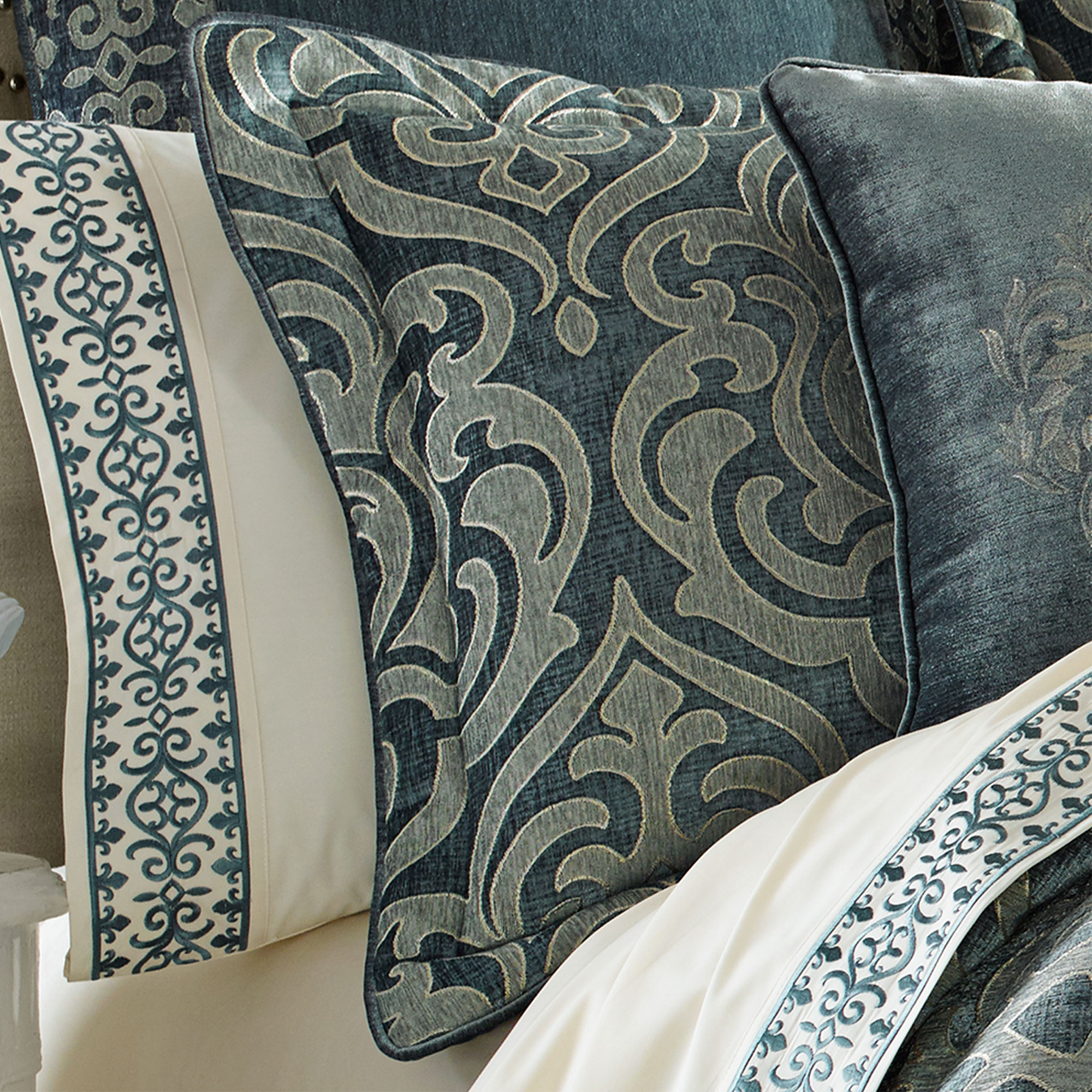 Sicily Teal 20 Quot Squeare Decorative Pillow