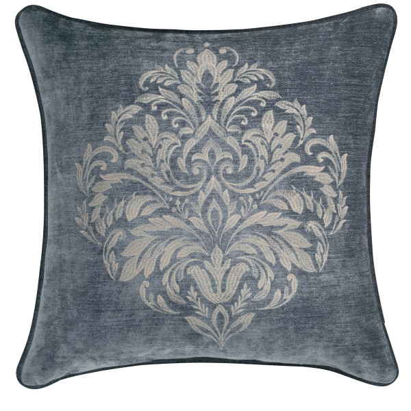 "Sicily Teal 20"" Embroidered Square Decorative Pillow"