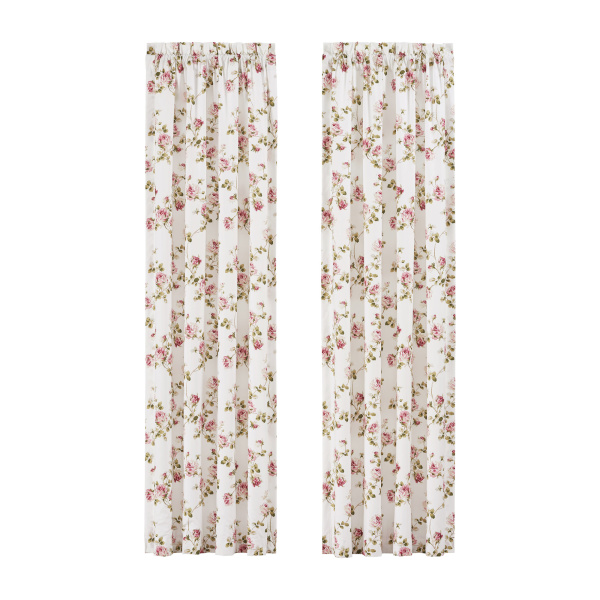 "Rosemary Rose 84"" Window Panel Pair"