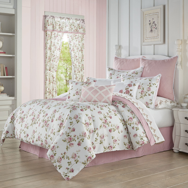 Rosemary Rose Full 4 PCS Comforter Set