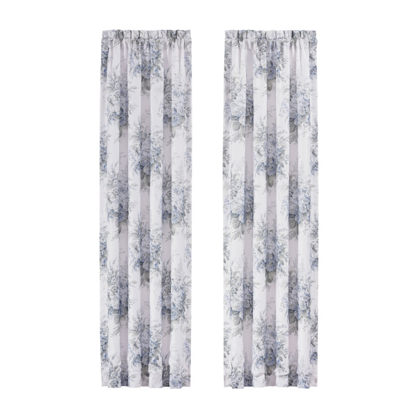 "Estelle Blue 84"" Window Panel Pair"