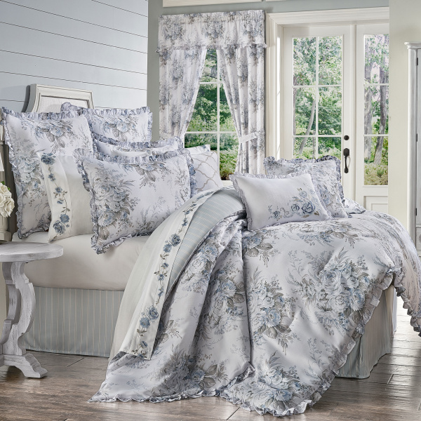 Estelle Blue Full 4 PCS Comforter Set