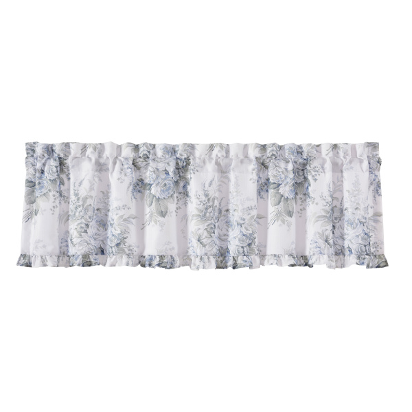 Estelle Blue Window Straight Valance