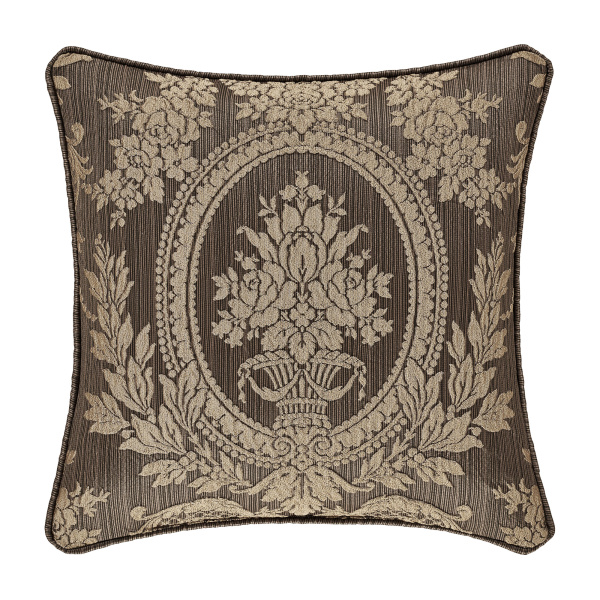"Neapolitan 18"" Square Decorative Throw Pillow Mink"