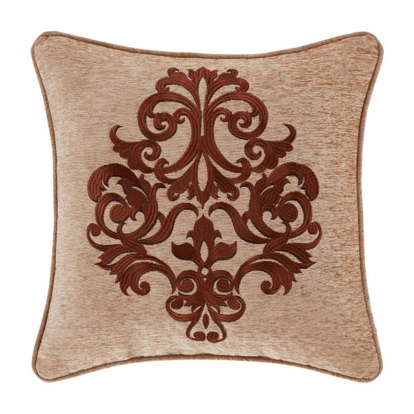 "Luciana Beige 18"" Square Decorative Throw Pillow"