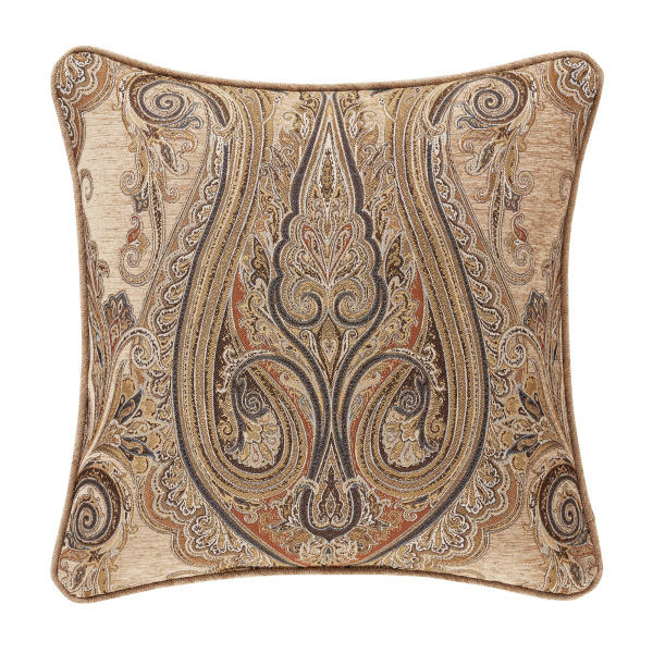 "Luciana Beige 20"" Square Decorative Throw Pillow"