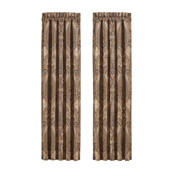"Luciana Beige 84"" Window Panel Pair"