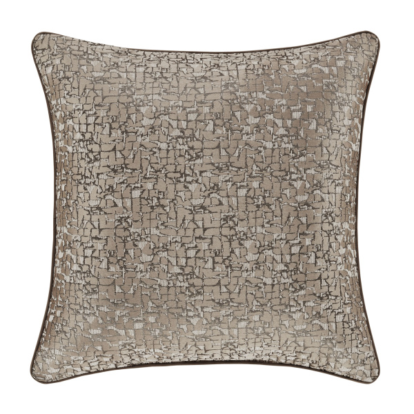 "Cracked Ice Taupe 20"" Square Decorative Throw Pillow"