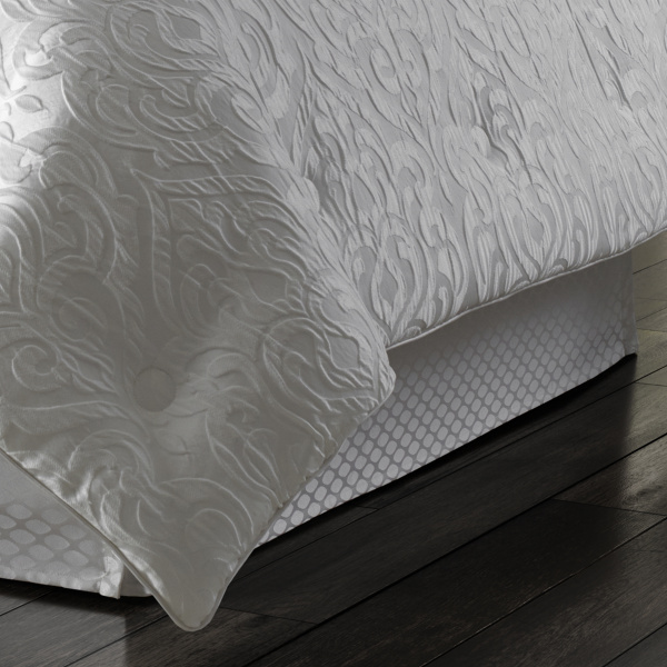 Astoria White Bedskirt