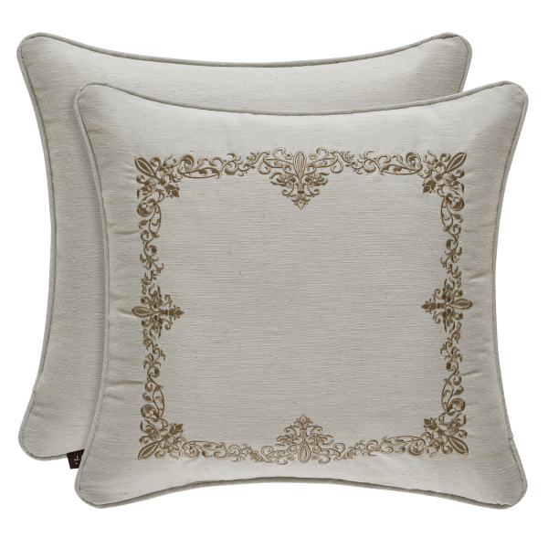 "Donatella 18"" Square Embroidered Pillow"