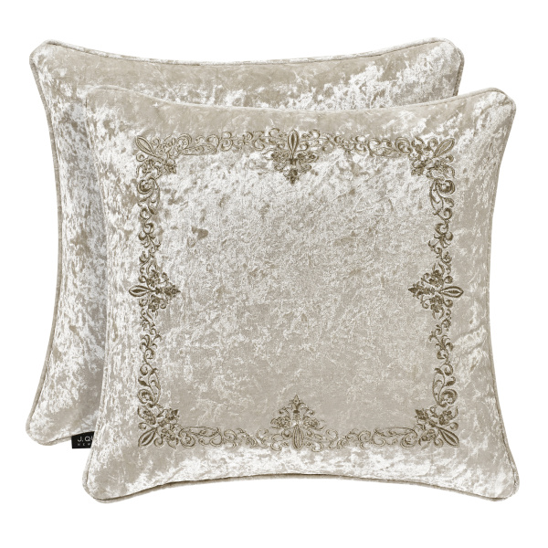 "Dream Natural 18"" Embroidered Decorative Pillow"