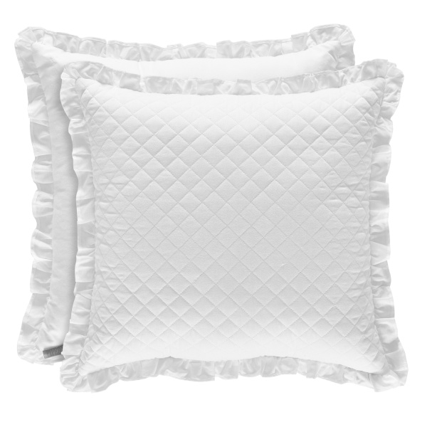 "Flower Bed 18"" Square Pillow"
