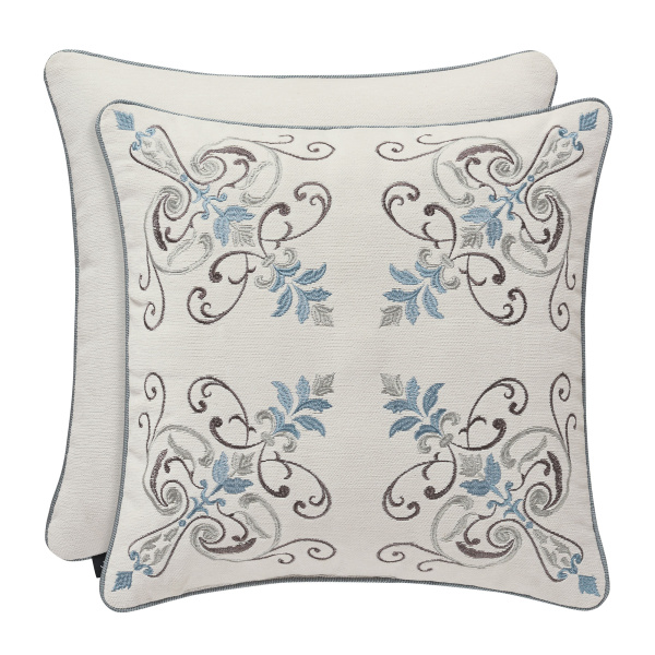 "Giovanni 18"" Embroidered Decorative Pillow"