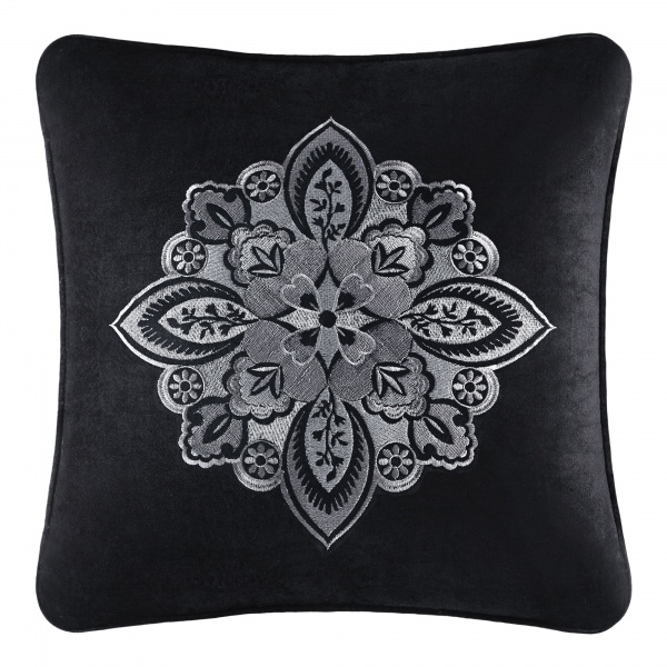 "Guiliana 18"" Embroidered Square Dec Pillow"