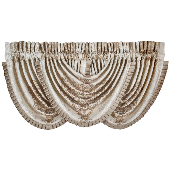 La Scala Gold Waterfall Valance