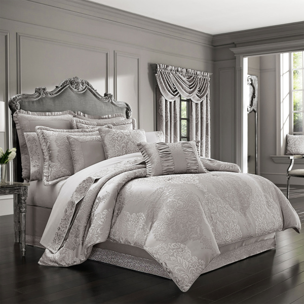 La Scala Silver Queen 4-Piece Comforter Set