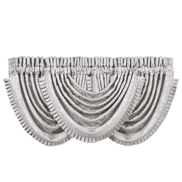 La Scala Silver Waterfall Valance