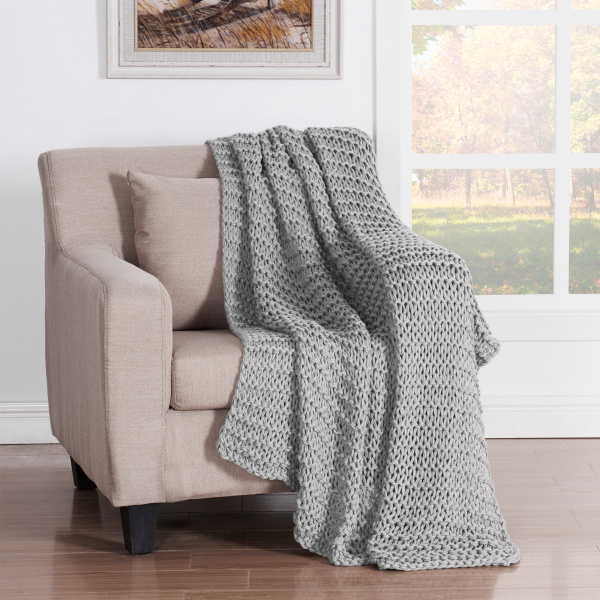Luca Throw Blanket Grey