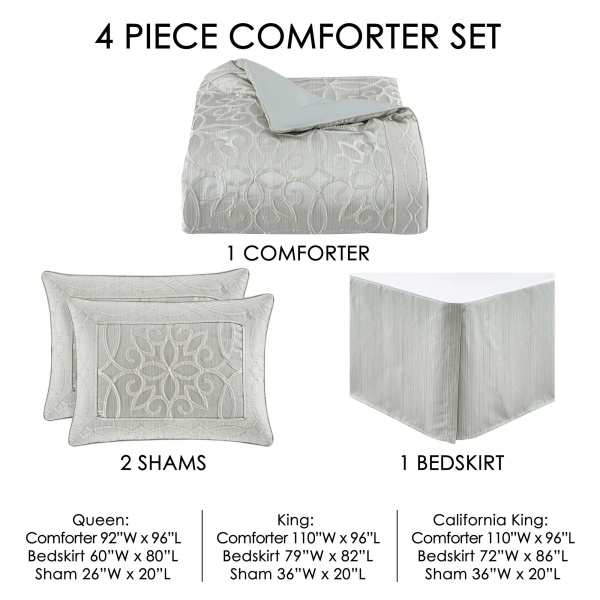 Nouveau King 4 Pieces Comforter Set 3