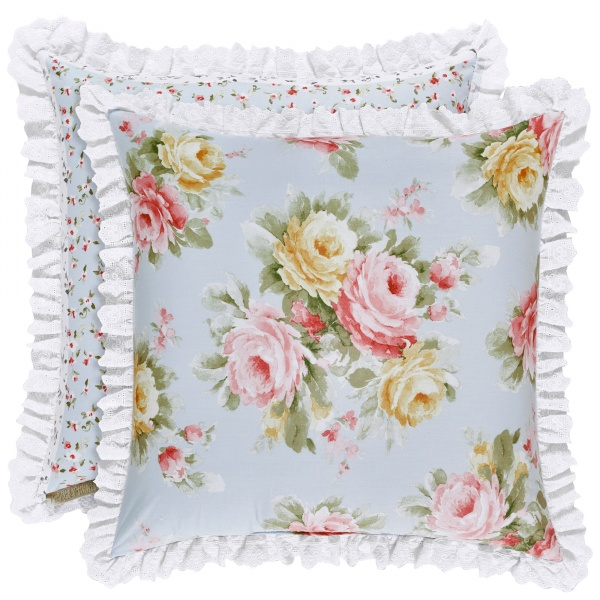Stella Floral Reversible Square Pillow