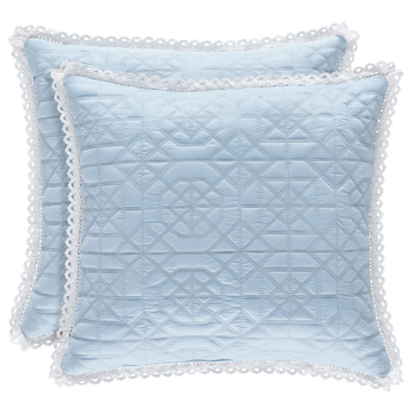 "Rosalie Blue 18"" Square Pillow"
