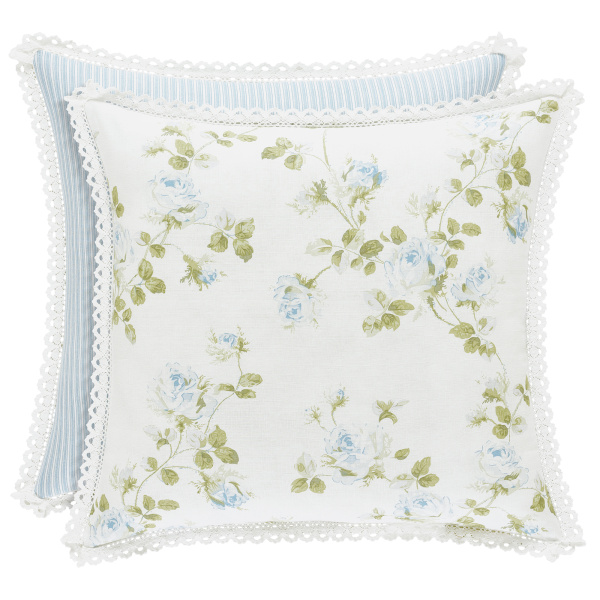 "Rosalie  Blue 20"" Square Pillow"