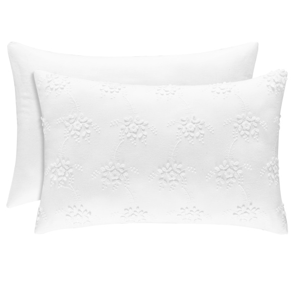 Rosalie White Boudoir Pillow