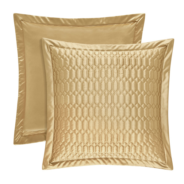 Satinique Gold Euro Quilted Sham
