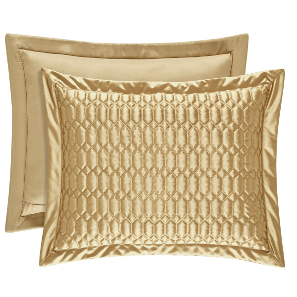Satinique Gold King Quilted Sham