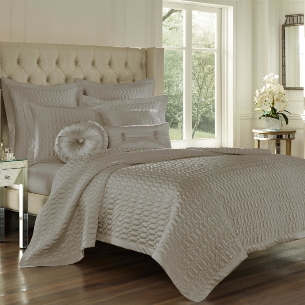 Satinique Silver Full  Coverlet