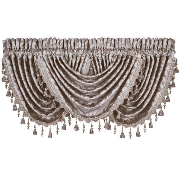 Sicily Pearl Waterfall Valance