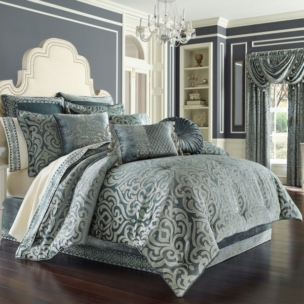 Sicily Teal Full 4-Piece Comforter Set