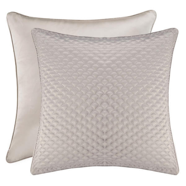 Zilara Silver Euro Quilted Sham