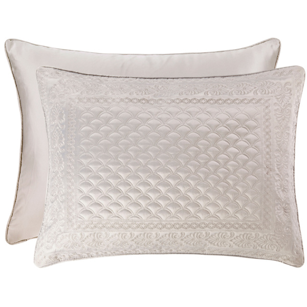 Zilara Silver King Quilted Sham