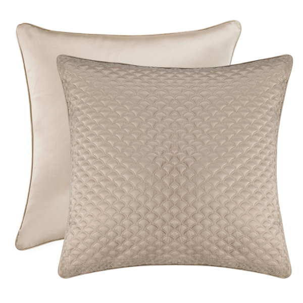 Zilara Taupe Euro Quilted Sham