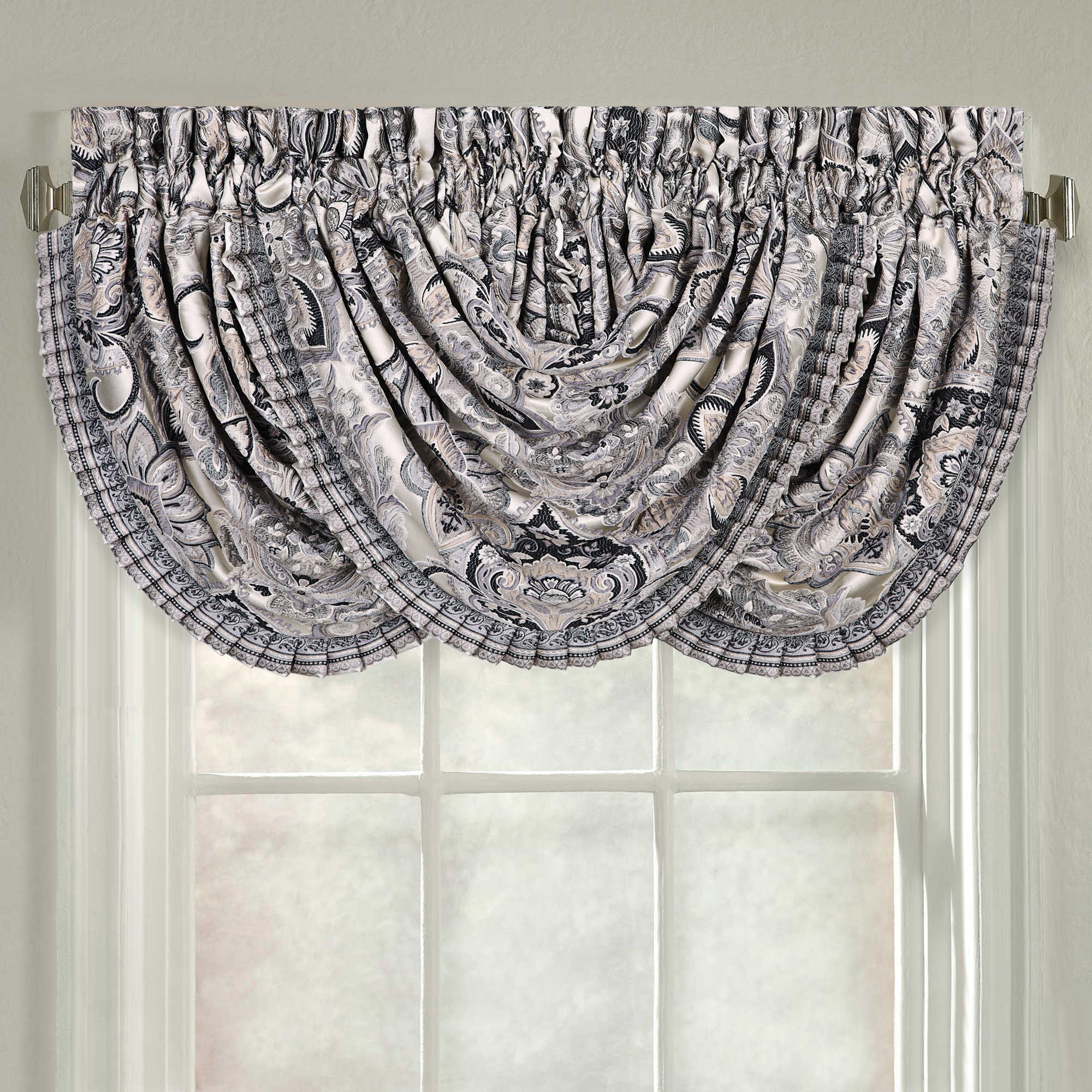 valances royale damask inspect treatment window valance waterfall classique home