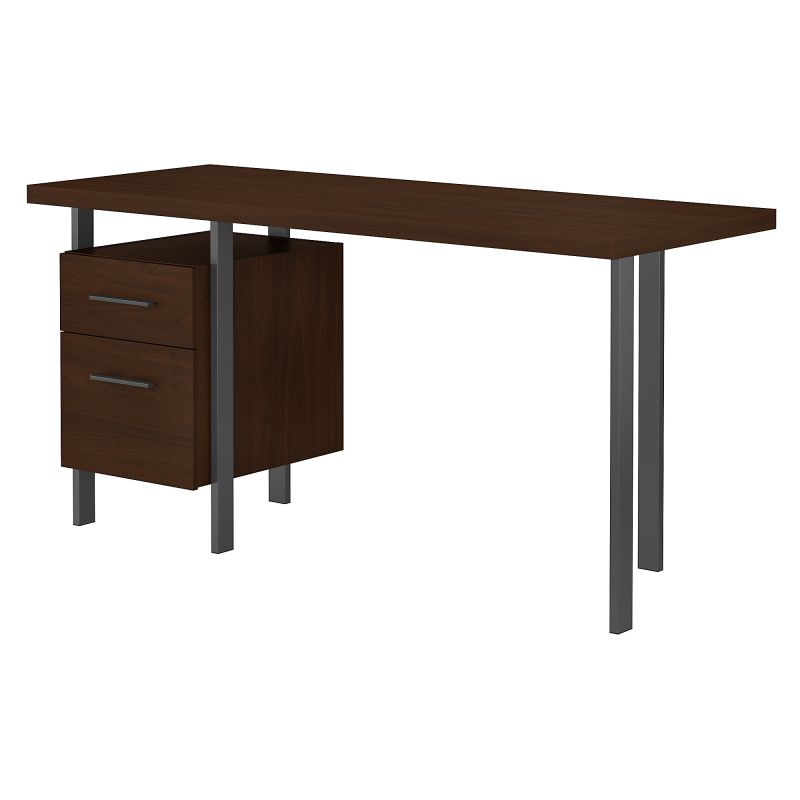 ACD160MW-03 60W Writing Desk with Drawers in Modern Walnut