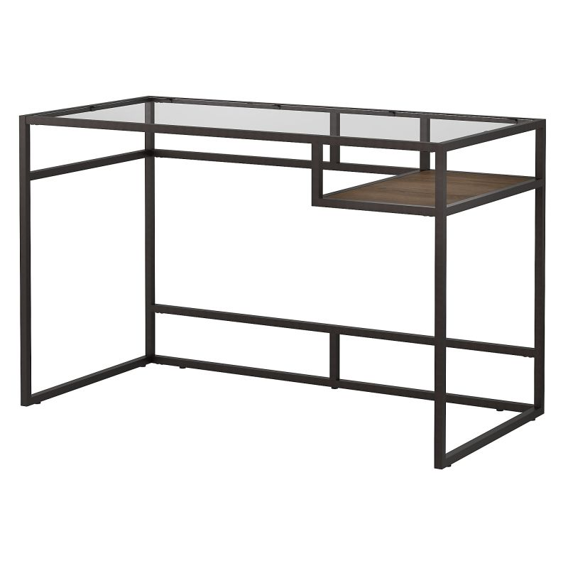 ATD148RB-03 48W Glass Top Writing Desk with Shelf