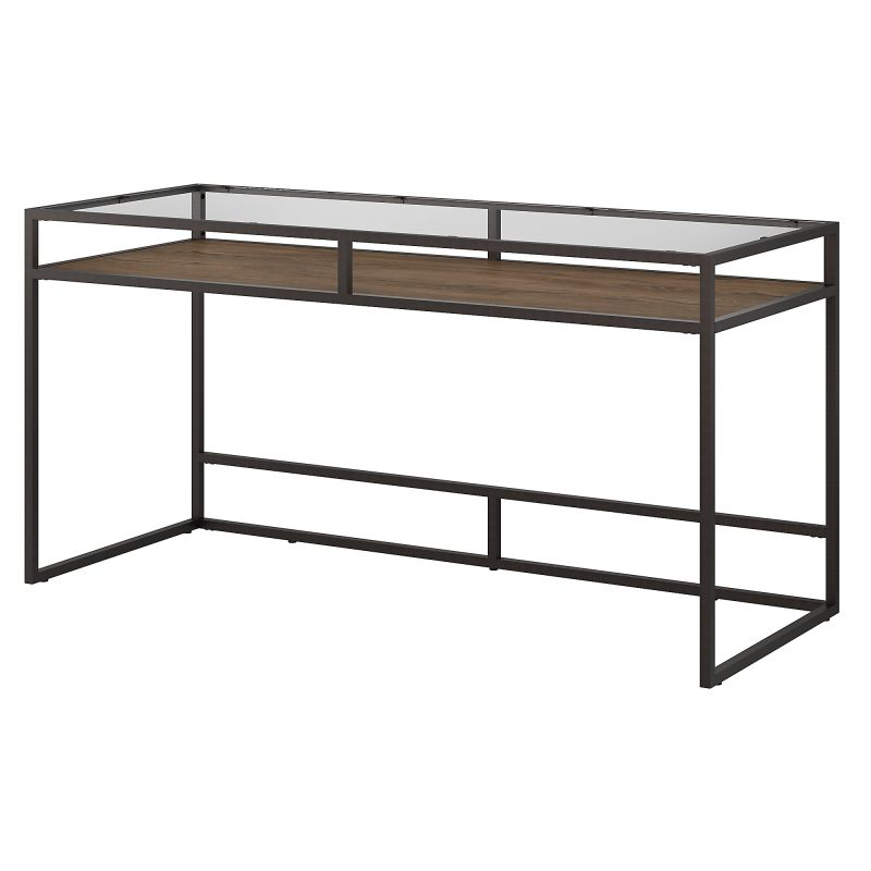 ATD360RB-03 60W Glass Top Writing Desk with Shelf