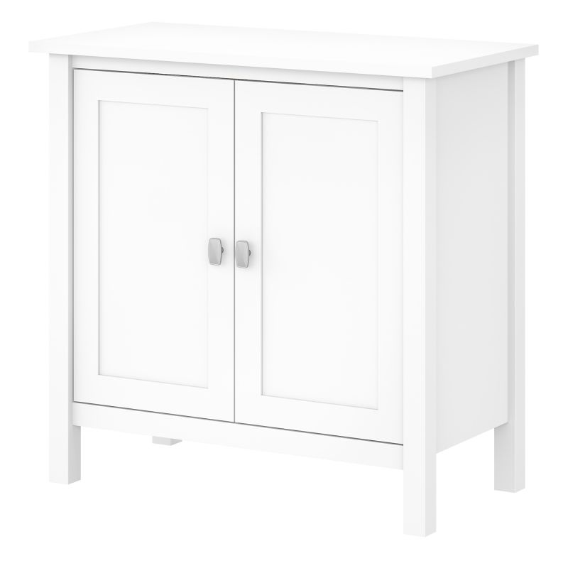 BDS131WH-03 Storage Cabinet with Doors in Pure White