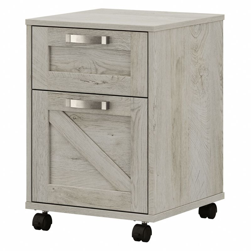 CGF116CWH-03 Cottage Grove 2 Drawer Mobile File Cabinet in Cottage White