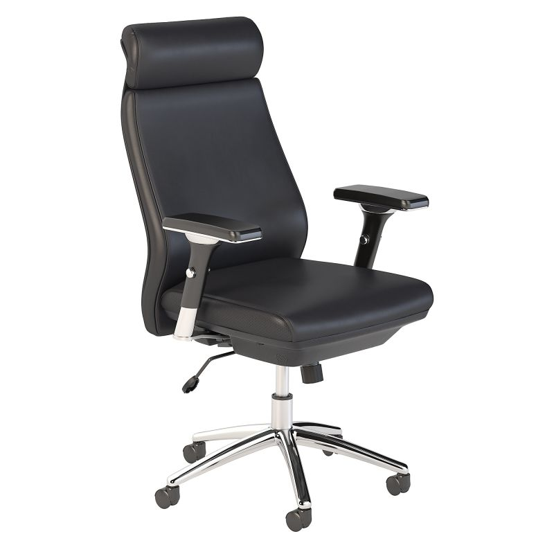 CH1601BLL-03 High Back Leather Executive Office Chair in Black