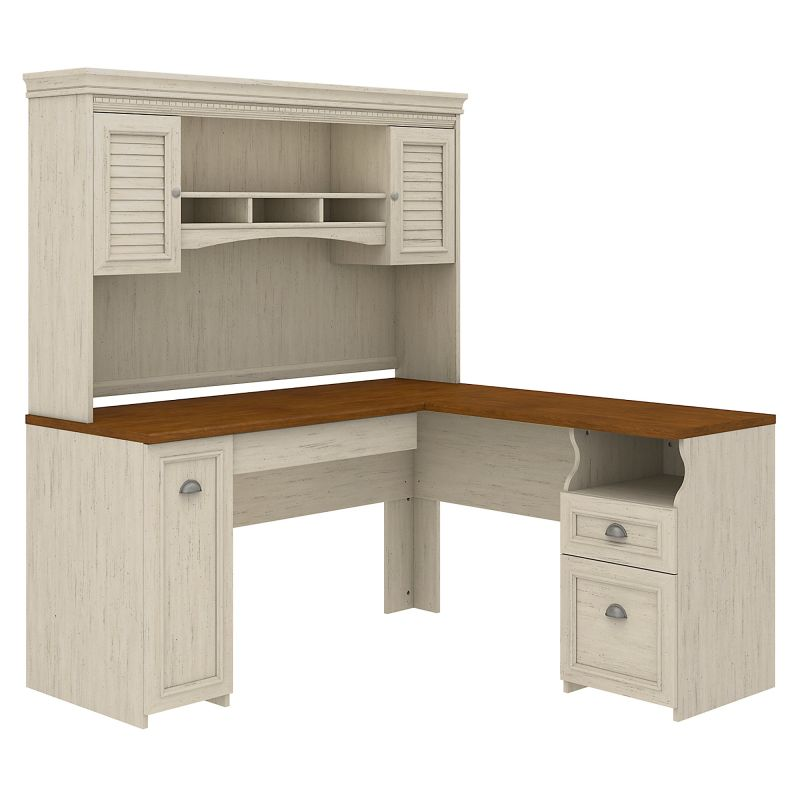 Fairview Bundle with L-Desk and Hutch