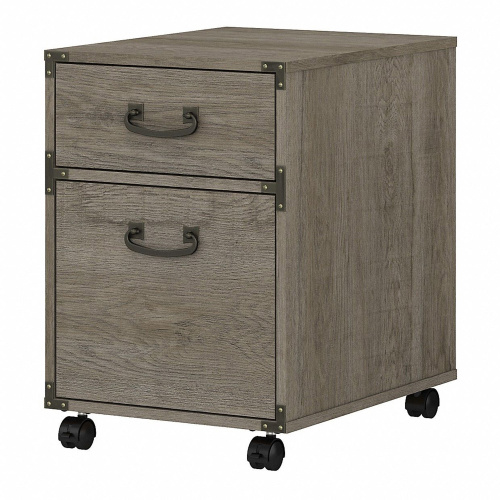 KI50302-03 kathy ireland® Home by Bush Furniture Ironworks 2 Drawer Mobile File Cabinet in Restored Gray