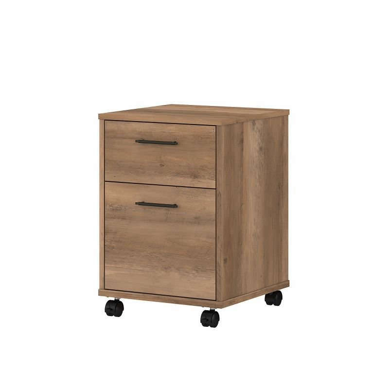 KWF116RCP-03 Bush Furniture Key West 2 Drawer Mobile File Cabinet in Reclaimed Pine