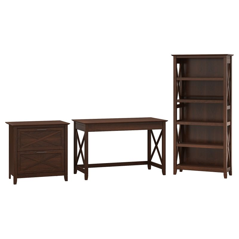 KWS004BC 48W Writing Desk with Lateral File and 5 Shelf Bookcase
